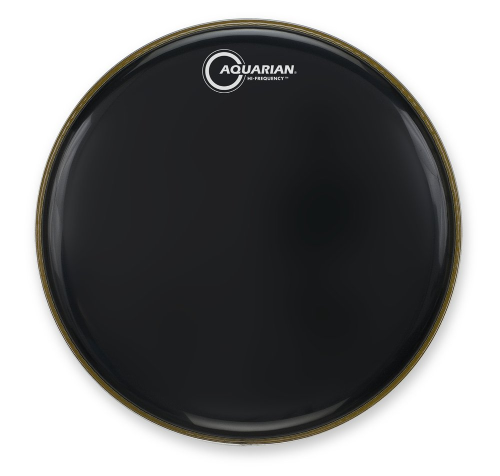 Aquarian Drumheads HF14BK Hi-Frequency 14-inch Tom Tom Drum Head, gloss black