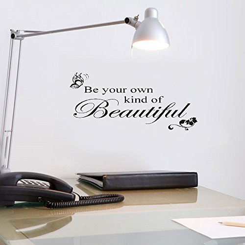 - vlksjv Wall Stickers Decor Be Your Own Kind of Beautiful