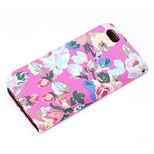 iPhone 6 Hülle,Apple iPhone 6 Hülle (4.7 Zoll) Lifetrut®[Pfingstrosen 4#] Flip Case mit lebenslanger Garantie + Kartenfächern & Standfunktion
