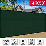 Cheap Artpuch Fence Screen 4′ x 50′ with Brass Grommets, Heavy Duty Fencing Mesh Shade Net Cover for Wall Garden Yard Backyard Indoor Outdoor