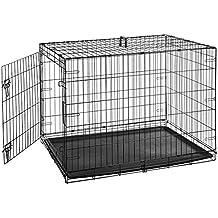 AmazonBasics Single-Door Folding Metal Dog Crate - 42 Inches