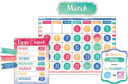 Watercolor Calendar Bulletin Board -