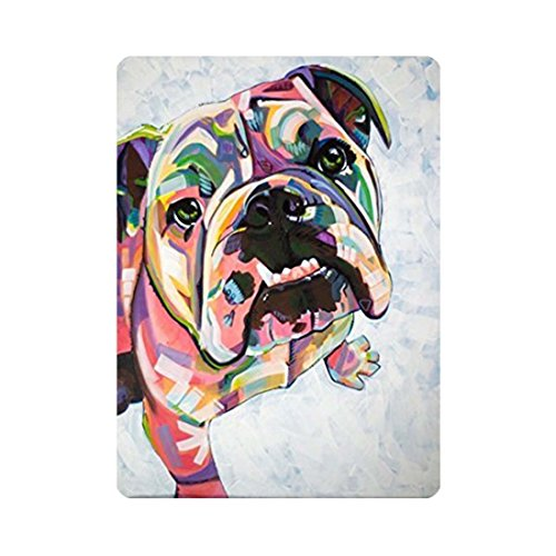 YLOT Funny Graffiti Watercolor Bulldog Front Door Mat 15.7