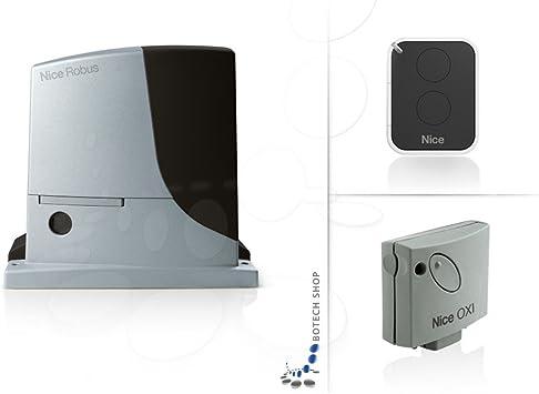NICE ROBUS 1000 Motor 24V para puertas correderas - Kit S: Amazon.es: Bricolaje y herramientas