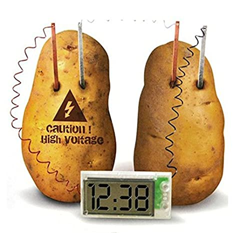 Reloj digital alimentado por patata, juego de juguetes divertido para niños: Amazon.es: Iluminación