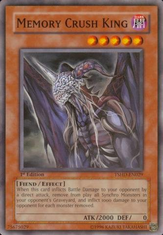Yu-Gi-Oh! - Memory Crush King (TSHD-EN029) - The Shining Darkness - Unlimited Edition - Common