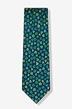 Men's 100% Silk St Patrick's Irish Good Luck Shamrock Necktie Tie Neckwear