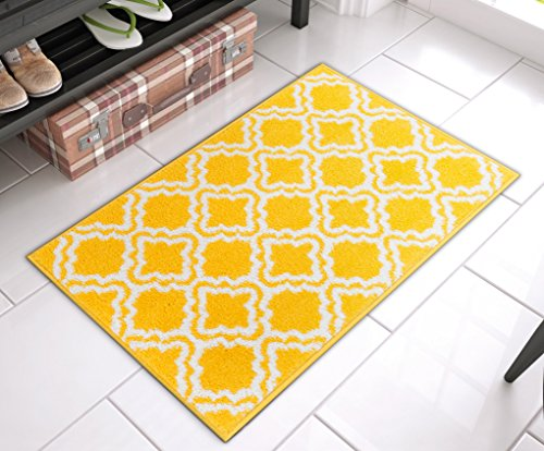 Well Woven 0941-2031 Bright StarBright Yellow Calipso Modern Geometric Trellis 20