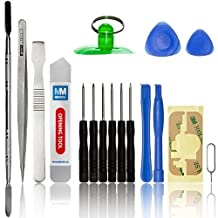 17 in 1 Professional Universal repair Tookit contains: Adhesive stickers, Opening Tools for Smartphones: iPhone 4 4S 5 5C 5S 6 iPad 1 2 3 4 iPod PSP NINTENDO HTC Samsung S2 S3 S4 S5 S6 Nokia Huawei LG Motorola Sony and Xiaomi.