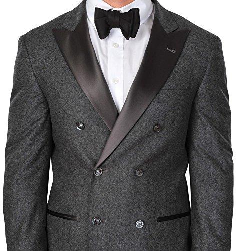 Brunello Cucinelli Smoking Uomo Grigio Scuro Blazer, pantaloni Grigio scuro 50 normale