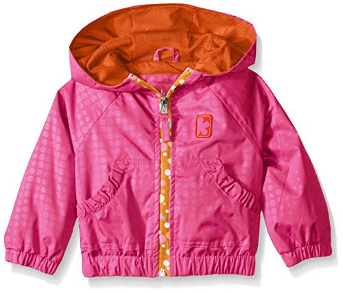 Pink Platinum Baby Girls' Stamp Print Jacket with Printed Zip, Knockout Pink, 18 Months