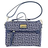 Tommy Hilfiger East West Jacquard Crossbody Purse (Navy Blue)