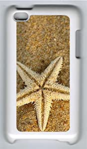iPod 4 Case, iPod 4 Cases - Beach Starfish PC Polycarbonate Hard Case Back Cover for iPod 4¨CWhite
