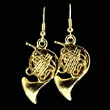 French Horn Earrings (Gold)