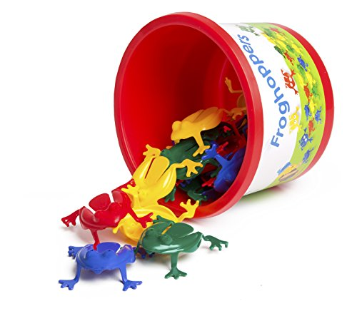 Viking Toys Frog Hoppers – Flip Frogs in the Bucket (Jumping Frogs)