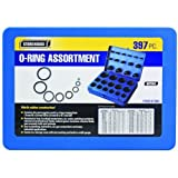 397 Piece Metric O-Ring Assortment with Storage Case and O-ring Gauge