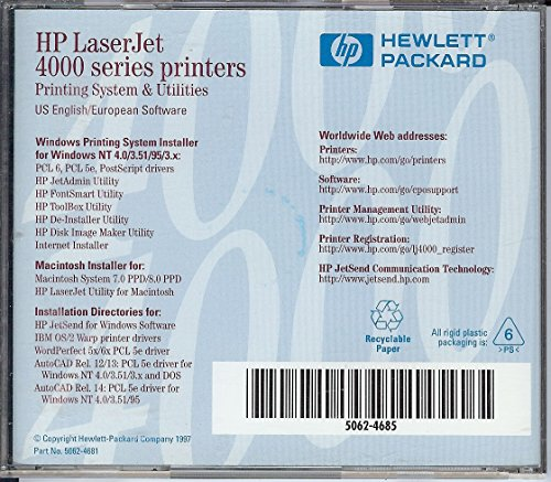 Price comparison product image Hp Laserjet 4000 Series Printing System & Utilities
