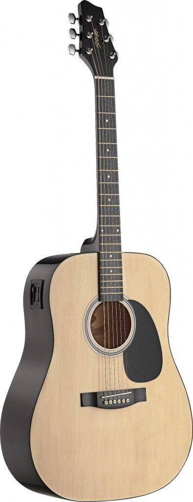 Stagg スタッグ SW201N-VT Acoustic-Electric Dreadnought Guitar with Black Stained Maple Bridge - Natural アコースティックギター アコギ ギター (並行輸入)   B005RA3GTU