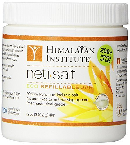 Himalayan Institute Neti Pot Salt Jar, 12 Ounce (2)