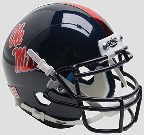 Schutt Mississippi Rebels NCAA XP Authentic Mini Football Helmet OLE Miss