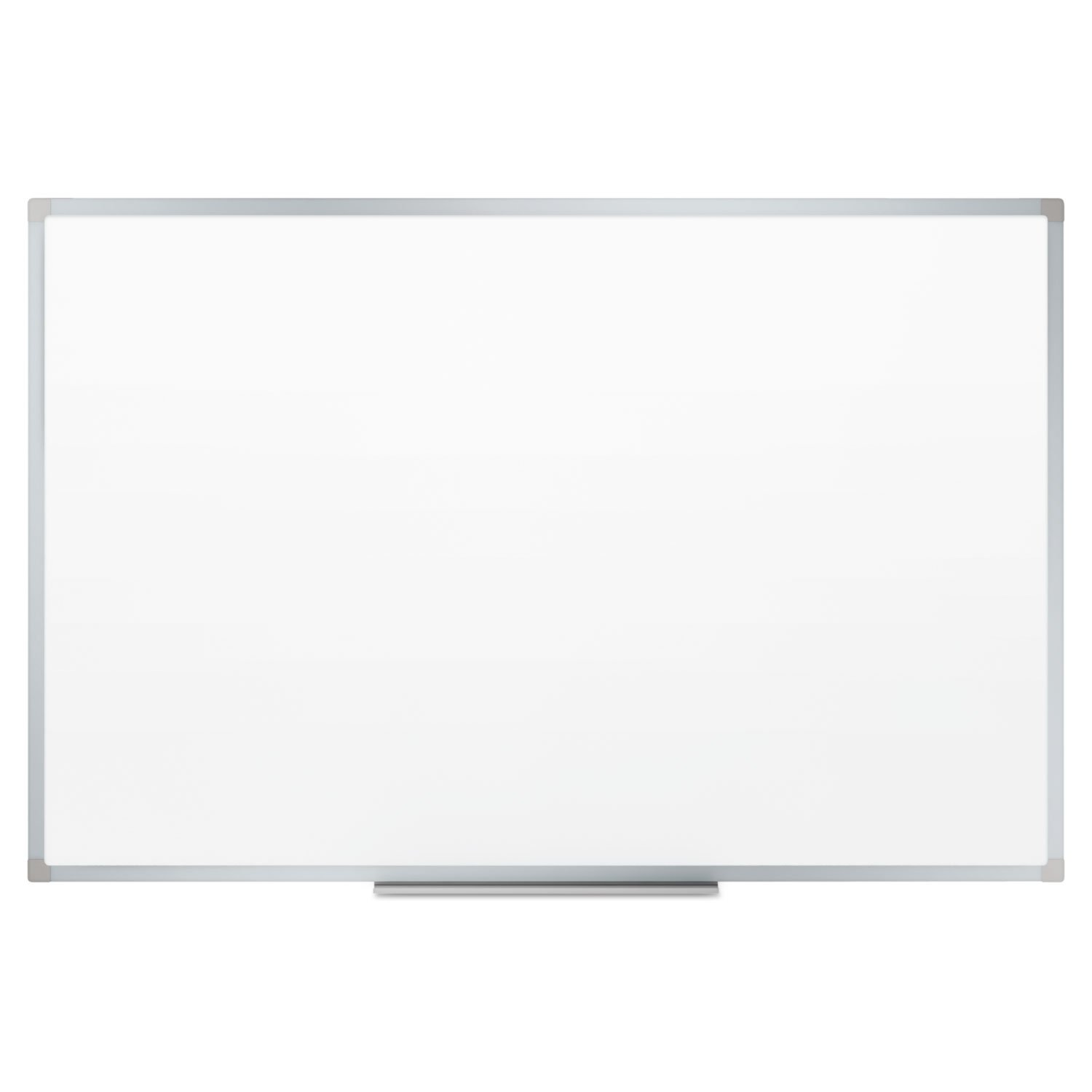 - Dry-Erase Board, Melamine Surface, 72 x 48, Silver Aluminum Frame -