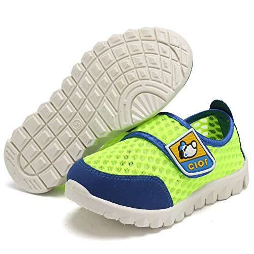 CIOR Kid's Mesh Lightweight Sneakers Baby Breathable Slip-On For Boy and Girl's Running Beach Shoes(Toddler/Little Kid) 41