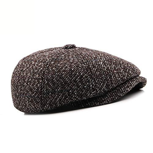 en la Avanzada Gran protección la Tapa hacia e otoño de tamaño GLLH Boina de Hombres Sombreros hat Casquillo Manera de de el qin adelante auditiva la de A Edad la Invierno Sombreros B Sombrero xqC61S7