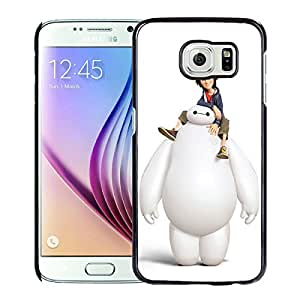 Big Hiro 6 For Samsung Galaxy S6 Black Case Cover