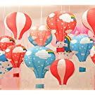 Hot Air Balloon Paper Lantern Chinese Japanese Paper Lamps Party Paper Lanterns Lantern Ball Lamps Decorations Christmas String Lights Rainbow Mixed Colors 12'', Set of 10