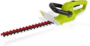 Corded Electric Handheld Hedge Trimmer - 4 Amp Electrical High Powered Hand Garden Trimmer Tool w/ 18 Inch Blade,Trims Bush, Shrub, Grass, Small Tree Branch - SereneLife