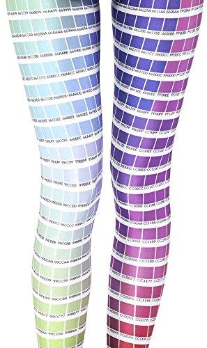 Price comparison product image QZUnique Women's Pantone Digital Print Ankle Length Slim Tights Leggings