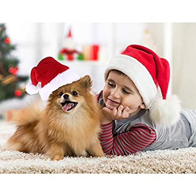 Tatuo 4 Pieces Christmas Pet Costume Cat Santa Hat Scarf and Collar Bow Necktie for Kitten Puppy Small Pets by Tatuo