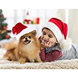 Tatuo 4 Pieces Christmas Pet Costume Cat Santa Hat Scarf and Collar Bow Necktie for Kitten Puppy Small Pets