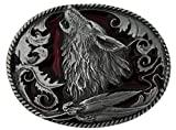 Howling Wolf Belt Buckle including Presentation Box