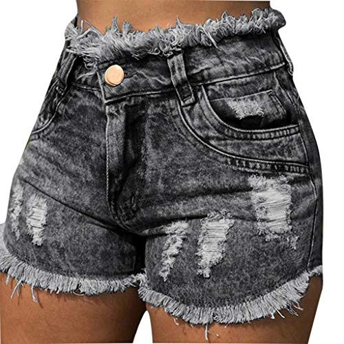 NEARTIME Sexy Shorts for Womens Summer Ladies Fashion Jeans with Pocket Hole Denim Pants Female High Waist Shorts ()