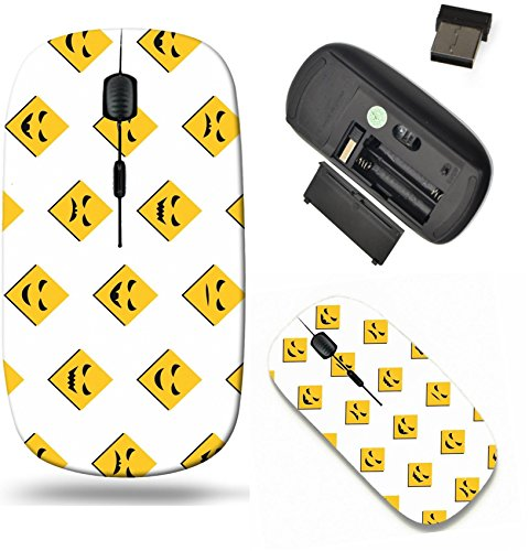 Liili Wireless Mouse Travel 2.4G Wireless Mice with USB Receiver, Click with 1000 DPI for notebook, pc, laptop, computer, mac book IMAGE ID: 15834964 Halloween seamless background with scary faces (Scratches On Face Halloween)