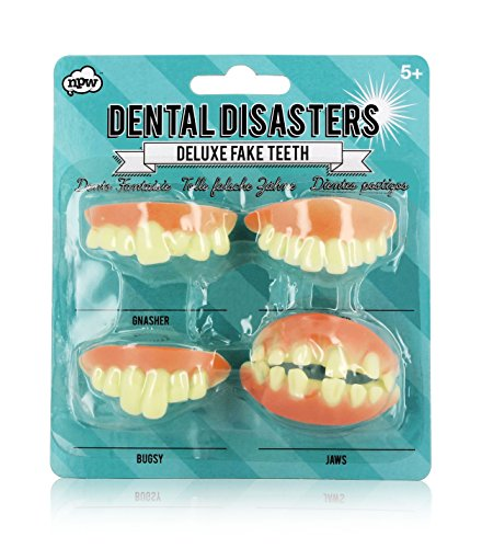 NPW Fausses Dents Prestige Dental Disasters (Lot De 4) -