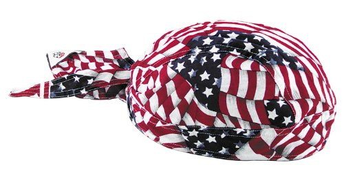Zan Headgear Flydanna Headwrap Wavy American Flag Osfm
