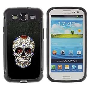 Suave TPU GEL Carcasa Funda Silicona Blando Estuche Caso de protección (para) Samsung Galaxy S3 III I9300 / CECELL Phone case / / Skull Cross Christian Death Bling Biker /