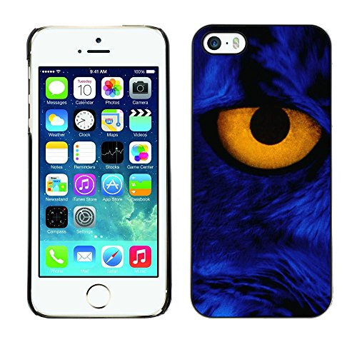 GooooStore/Housse Etui Cas Coque - Yellow Eye Close Cat Feline Blue Portrait - Apple iPhone 5 / 5S