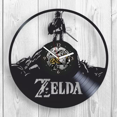 Amazon Com The Legend Of Zelda Breath Of The Wild Online Game Room Decor Vinyl Wall Clock Home Decor Unique Design Vinyl Record Best Gift For Fans Boy Man Husband Pop Modern Wall