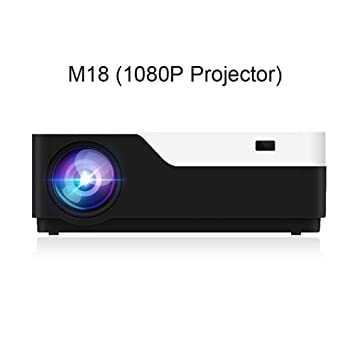 HD M18 1080P Full HD 3D Proyector de Cine en casa 5500 lúmenes LED ...