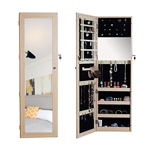 Organizedlife Wall/Door Mount Jewelry Armoire Organizer Oak (Kitchen)