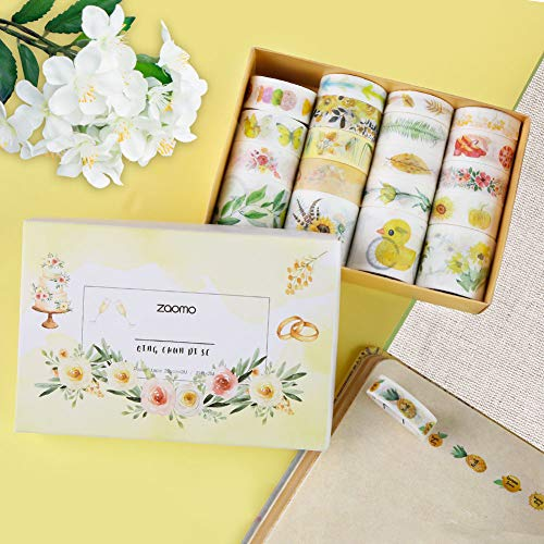 SallyFashion Washi Tape, 20 Rolls Decorative Tapes Scrapbook Tapes for DIY Crafts Gift Wrapping Festivals Party Decoration