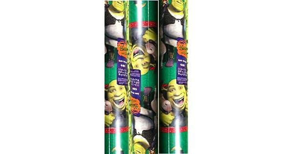 Amazon.com: DreamWorks ~ Shrek ~ papel de regalo de Navidad ...