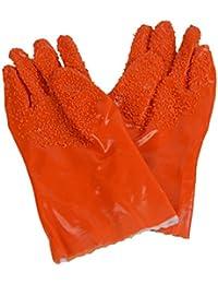 Buy 1 Pair Useful Kitchen Tool Vegetable Fruit Potato Peeler Stripper Gloves Antiskid Orange offer