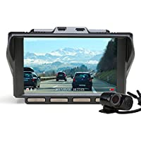 Z-EDGE S4 Dual Dash Cam, 4.0 Inch IPS Ultra HD 1440P Front & 1080P Rear 150° Wide Angle Lens Dashboard Camera Recorder, 360° Rotated Rear View Camera with Night Mode, WDR and 32GB Card Included