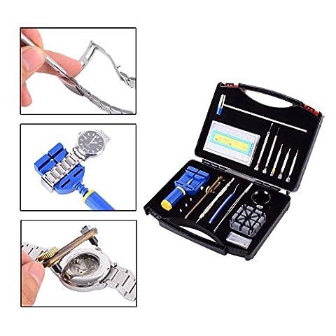 GZNIGHT 19 PCS Professional Watch Repair Tool Kit Set Link Remover Opener Spring Bar Tool Set With Carrying - Adjustment Block