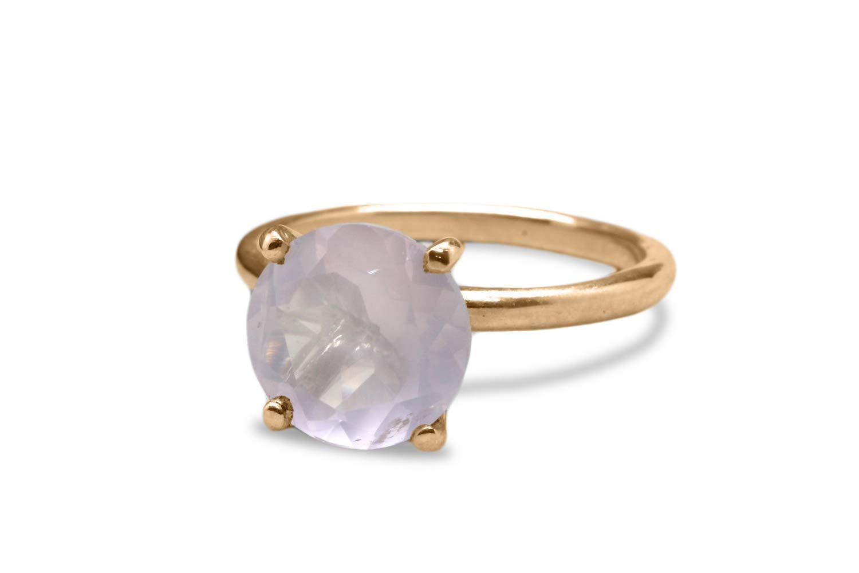 Rose Quartz Ring,Rose Quartz Gemstone Gemstone Ring Pink Ring Love Ring,Engagement Ring 925 Sterling Silver Prong Ring Minimalist Ring