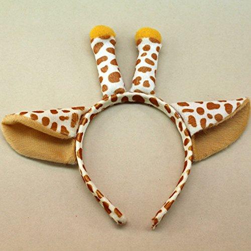 Cute Animal Ears Headband Kids Party Monkey Mouse Spotted Dog Giraffe a Lot A390 (5PCS-#19 GIRAFFE)